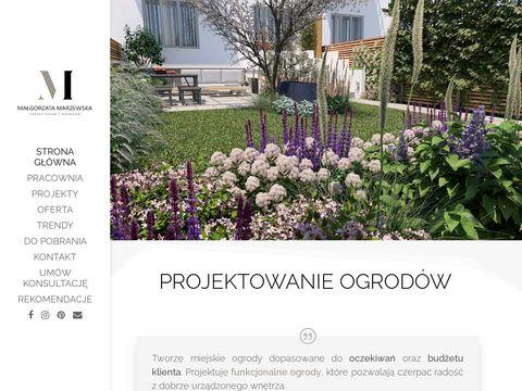 Marzewska.pl projekt ogrodu