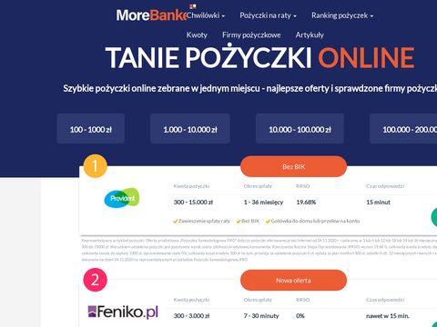 Morebanker.pl szybka pożyczka online