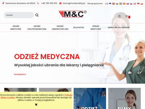 Modernbhp.pl odzież laboratoryjna