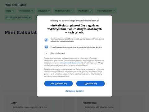 Minikalkulator.pl generator liczb losowych