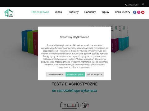 Labhome.pl testy medyczne do użytku domowego