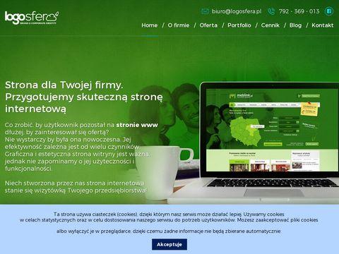 Logosfera.pl projekty wizytówki druk