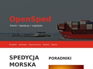 Opensped.pl transport morski