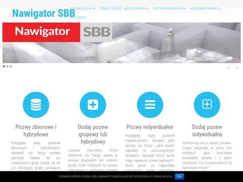 Nawigator.bankowebezprawie.pl kancelarie frankowe