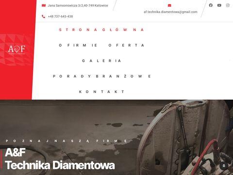 Af-technikadiamentowa.pl cięcie żelbetonu