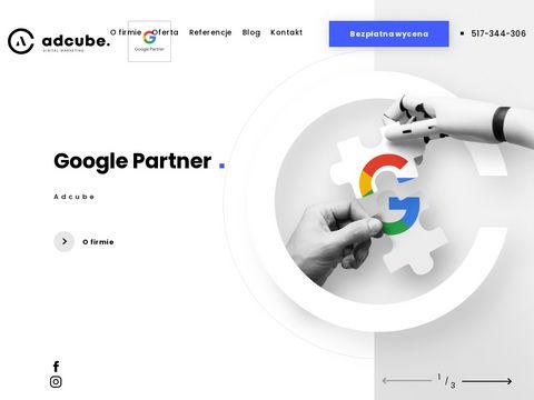 Adcube.pl pozycjonowanie stron Olsztyn