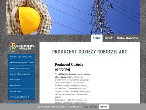 Abcrobocze.pl producent odzieży BHP