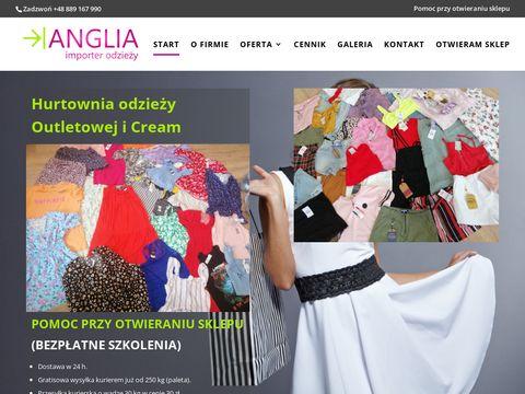 Anglia-importer.pl odzież używana Olsztyn
