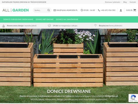 All4garden.pl - donice ogrodowe drewniane