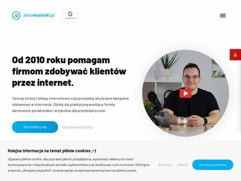 Arturkosinski.pl projektowanie stron Olsztyn