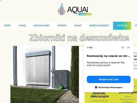 Aquai.pl zbiorniki na wodę deszczową