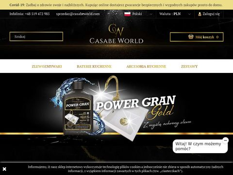 Casabeworld.com zlewy granitowe