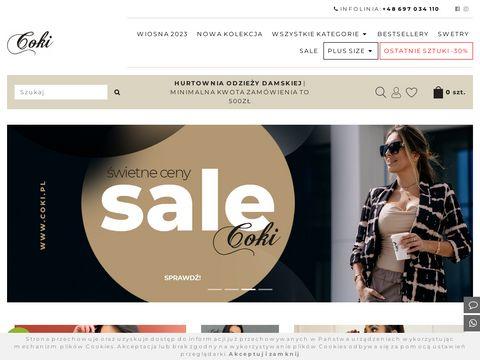 Coki.pl hurtownia damskiej odzieży włoskiej