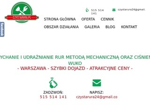 Czystarura.pl udrażnianie Warszawa i okolice