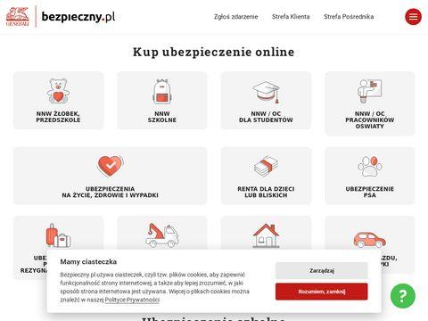 Bezpieczny.pl ubezpieczenia na życie nnw szkolne