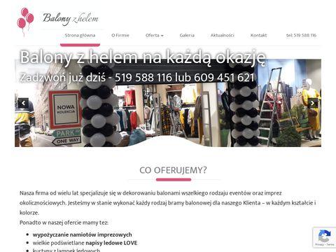 Balonyzhelem.biz.pl dekoracje Warszawa