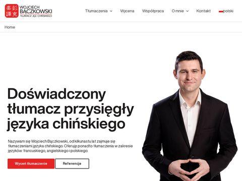 Baczkowski.pro tłumacz przysięgły chińskiego