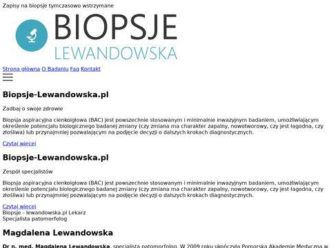 Biopsje-lewandowska.pl patomorfologia