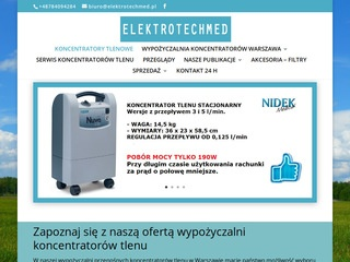 Elektrotechmed.com koncentrator tlenowy