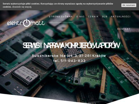 Elektromatt.pl naprawa komputerów Kraków