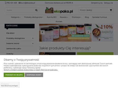 Ekopaka.pl sklep ze zdrową żywnością ekologiczną