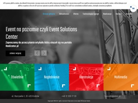 Eventsc.pl oświetlenia nagłośnienie sceny estradowe