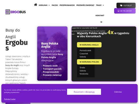 Ergobus.eu szybkie przeprowadzki z Anglii