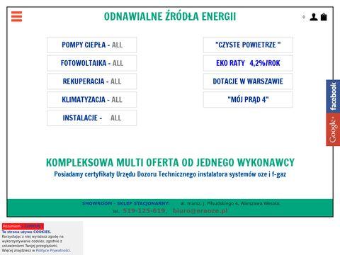 Eraoze.pl pompy ciepła instalacje fotowoltaiczne