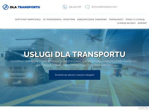 Dlatransportu.com portal