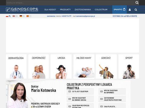 Genoscope.pl suplementy diety na bazie Colostrum