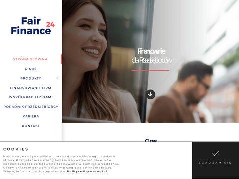 Fairfinance24.pl finansowanie firm