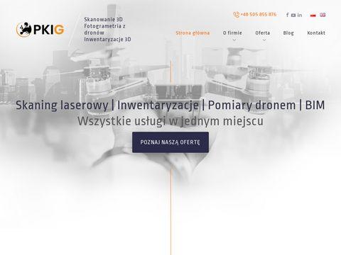 Fotogrametria.pkig.pl pomiary dronem