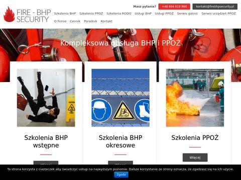 Fire-BHP Security szkolenia