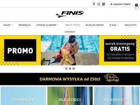 Finispoland.pl okulary pływackie na wody otwarte