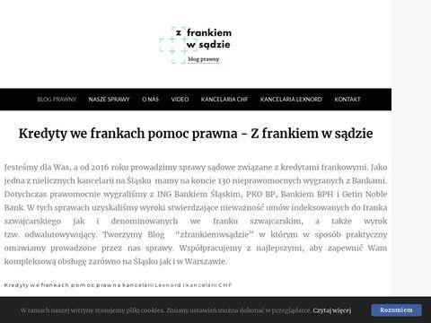 Zfrankiemwsadzie.pl blog prawny