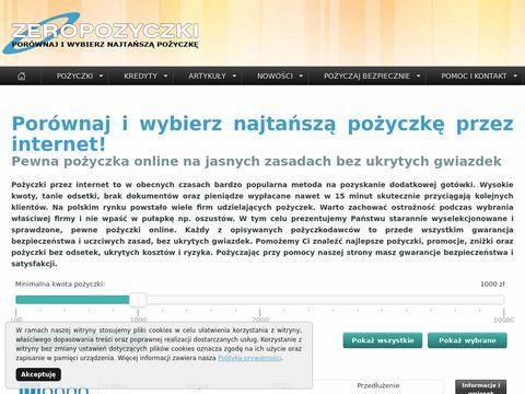 Zeropozyczki.pl - pożyczki bez odsetek