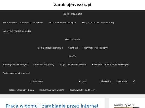 Zarabiajprzez24.pl blog