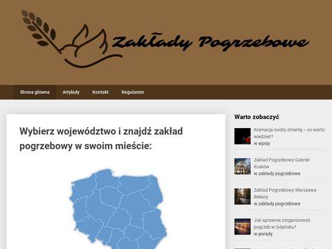 Zaklady-pogrzebowe.com portal funeralny