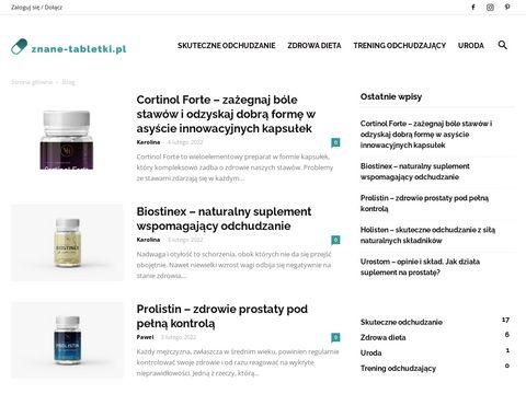 Znane-tabletki.pl blog o suplementach diety