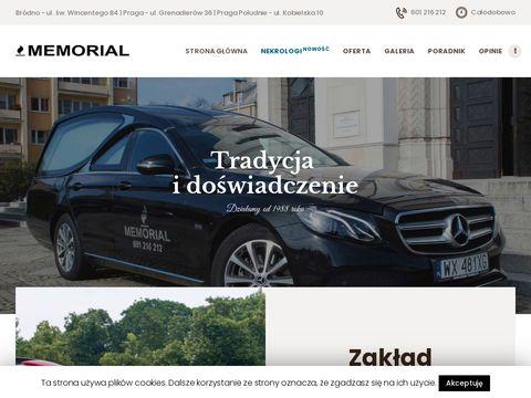 Pogrzebymemorial.pl zakład