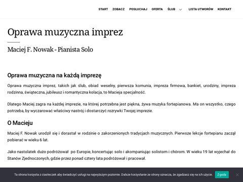 Pianistasolo.pl oprawa muzyczna imprez