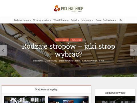 Projektoskop.com.pl portal budowlany
