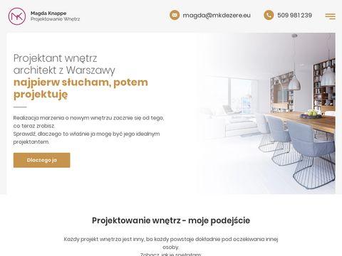 MKdezere - projektant wnętrz Warszawa