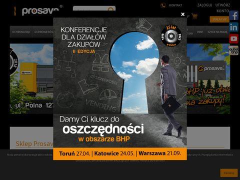 Prosave.pl sklep internetowy z artykułami BHP