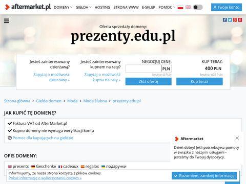 Prezenty.edu.pl - pomysły na prezenty