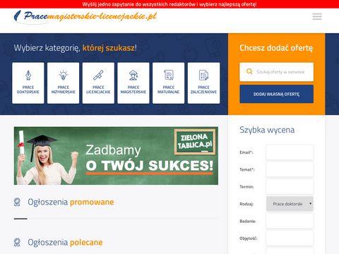 Pracemagisterskie-licencjackie.pl
