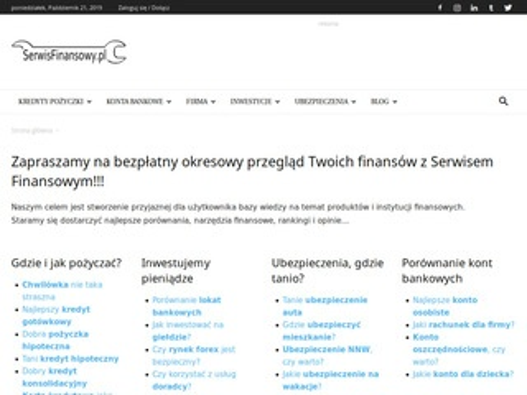 Serwisfinansowy.pl kalkulator kredytów i pożyczek