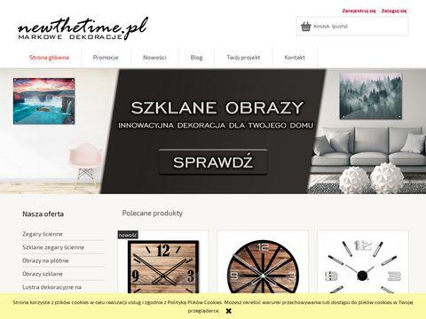 Sklep.newthetime.pl zegar naklejany