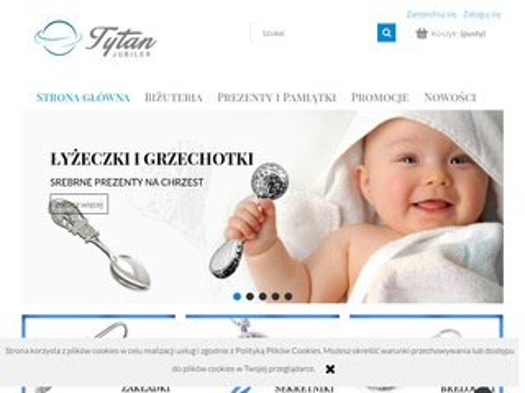 Sklep.tytanlebork.pl srebrne pamiątki na chrzest