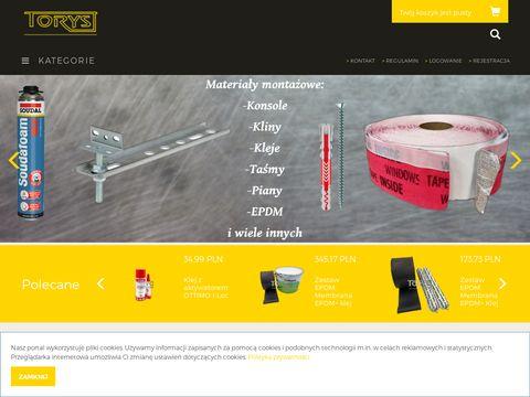 Sklep.torys.eu materiały montażowe do okien